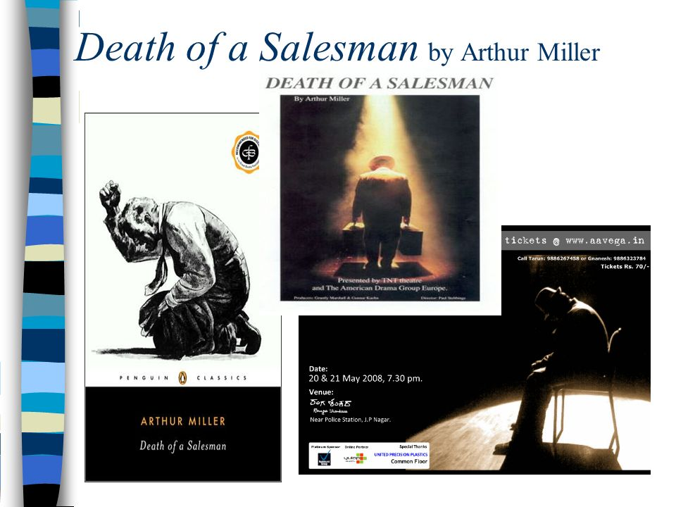 death of a saleman essay Essay on death of a salesman arthur miller's death of a salesman is a tragic play about an aging and struggling salesman and death ultimately.