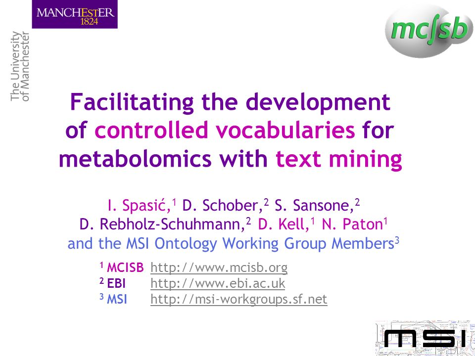 Facilitating the development of controlled vocabularies for metabolomics with text mining