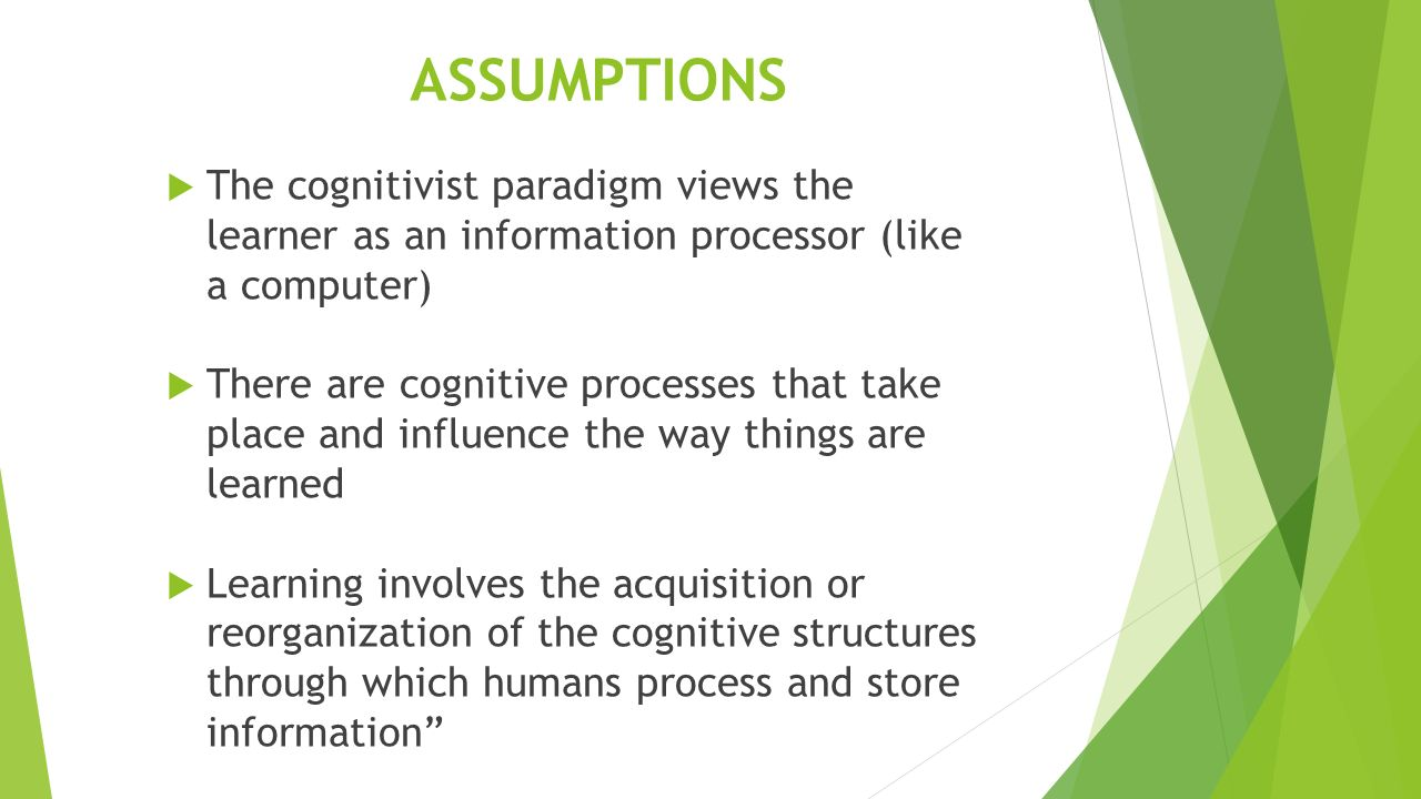 a cognitivists curriculum emphasis Of course, it derives from the process thatrt happens in human mind  vygotsky  is a russian psychologist who emphasize the cognitivism.