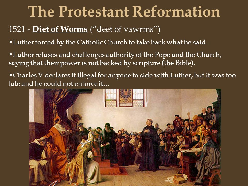"""protestant reformation and christian religious authority The protestant reformation introduced natural law and  luther challenges the catholic church's spiritual and secular authority  """"a christian is a."""