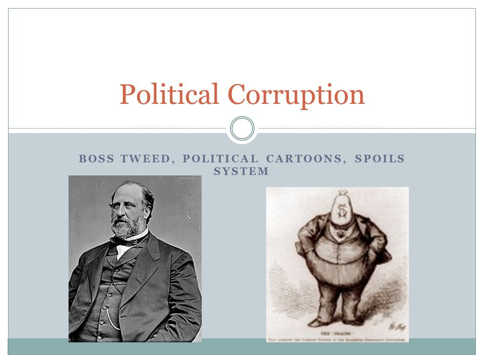 Boss Tweed Political Cartoons Spoils System Ppt Video
