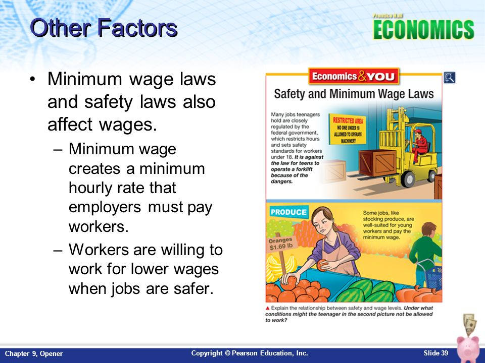 Minimum wage and overtime information