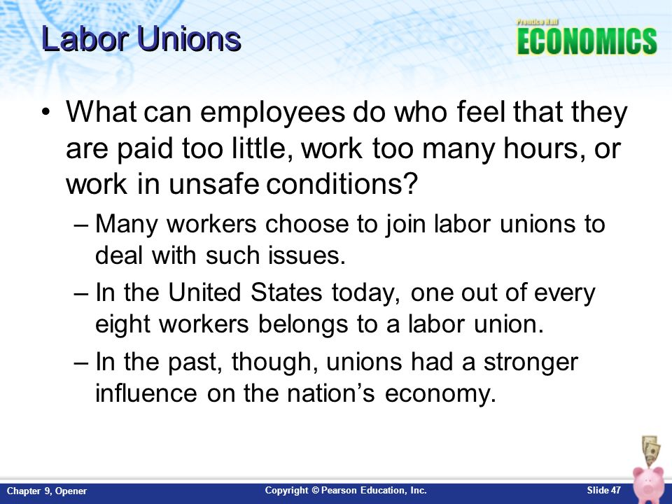 Are labor unions in the u s