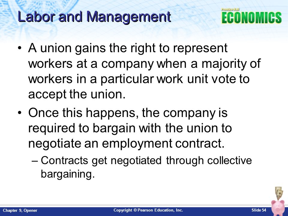 unions and management Labor relations and best practices reinforce collective bargaining agreements and strengthen cooperation between union and management.