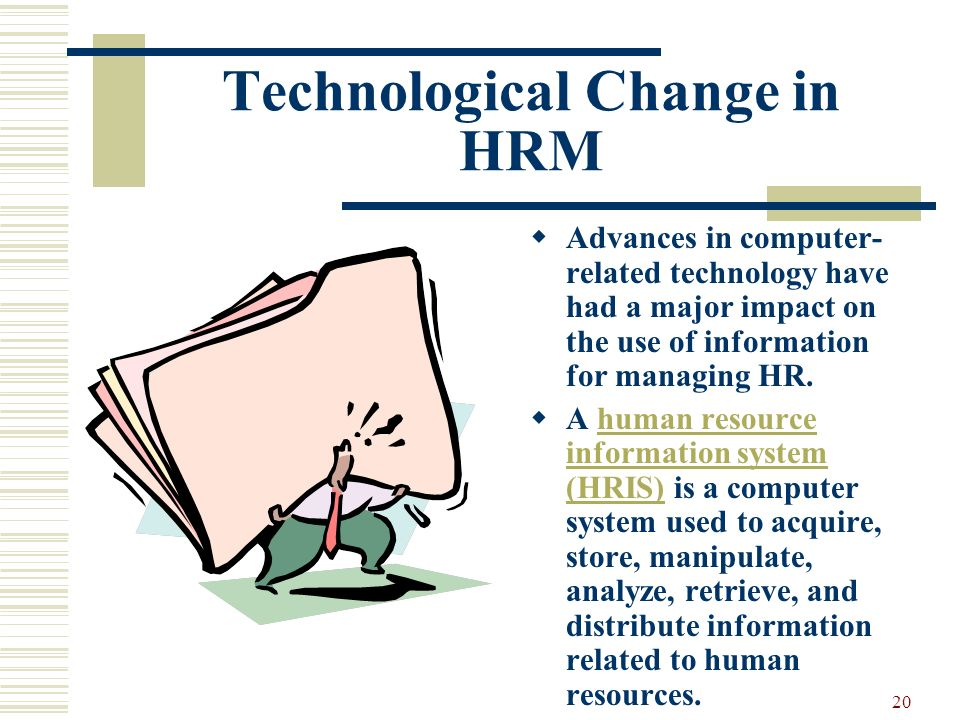 Technological Change in HRM