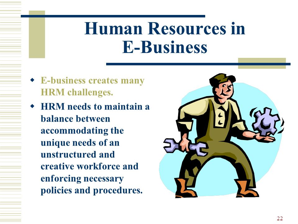 Human Resources in E-Business