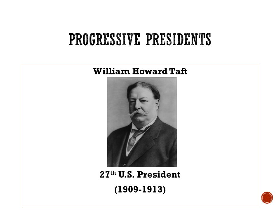 Progressivism: Roosevelt and Taft