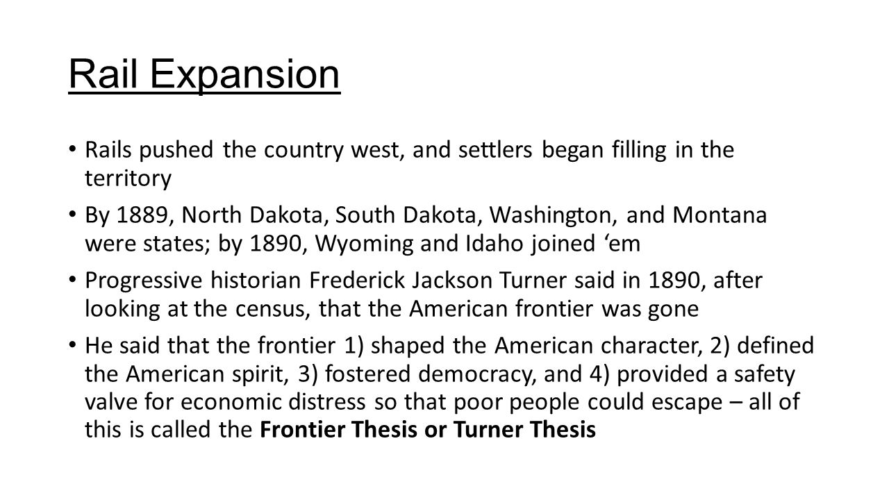 Frontier Thesis Safety Valve Theory Apush – 274915