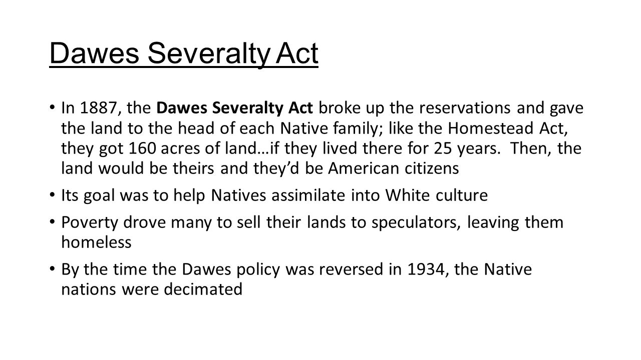 dawes severalty act 1887 essay