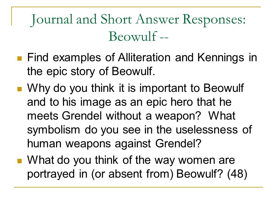 The many definition of a hero and beowulf