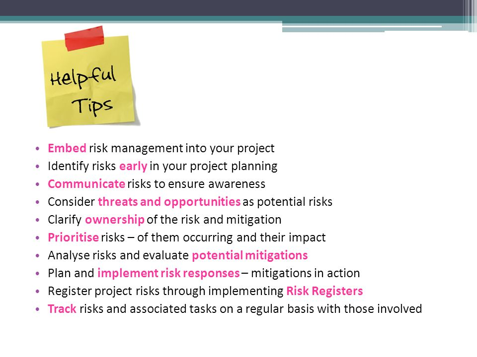 Project Management Session 5: Introduction to risk and quality ...