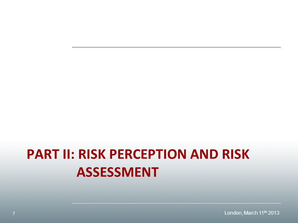 perceived risk analysis Risk perception, risk communication, and risk management  it became  apparent fairly soon after a quantitative science of risk assessment was  developed.