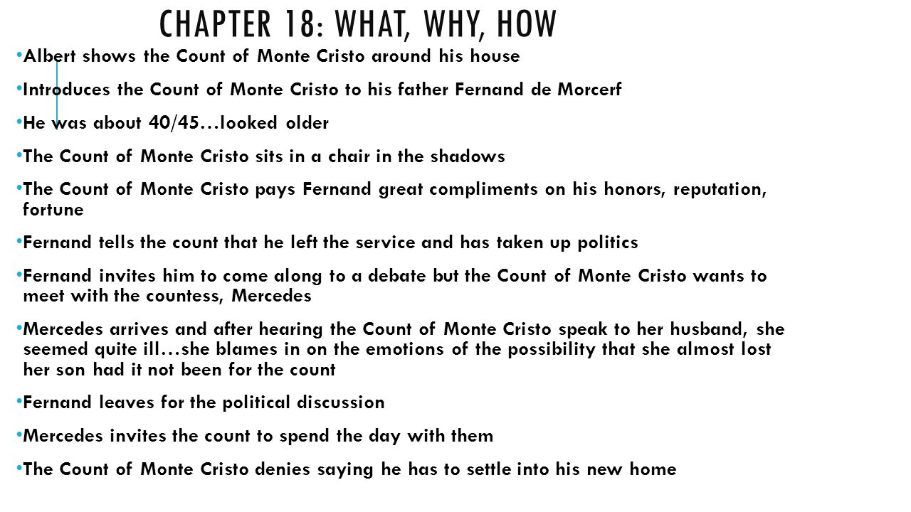 count cristo essay monte Dumas included this essay in one of the the first appearance of the count of monte cristo in english was the first part of a serialization by w francis.