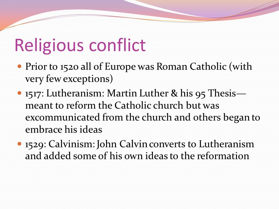 the background of the conflicts between martin luther and the catholic church