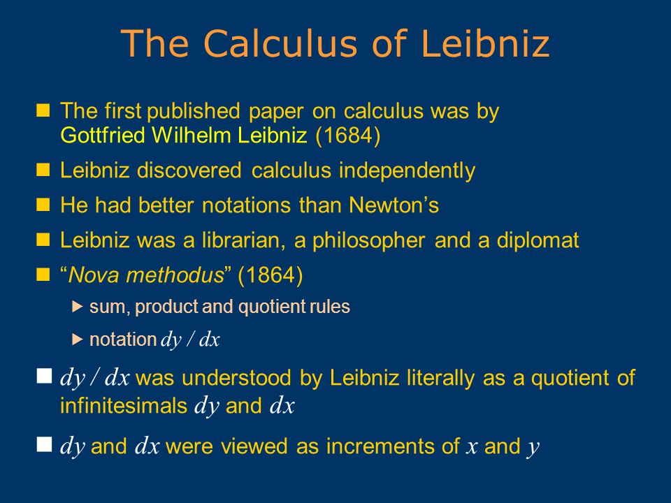 The Calculus of Leibniz