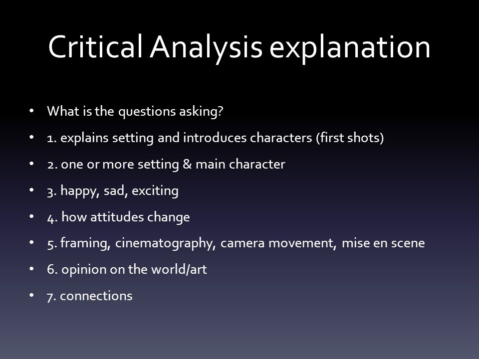 monday tuesday film studies ppt critical analysis explanation