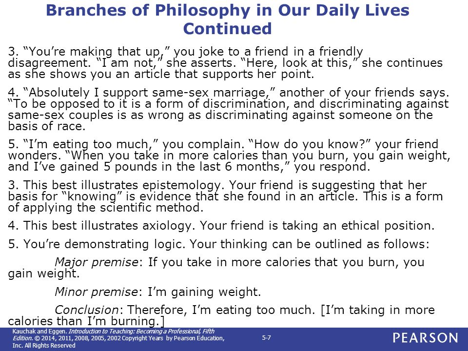 Philosophy in our daily lifes