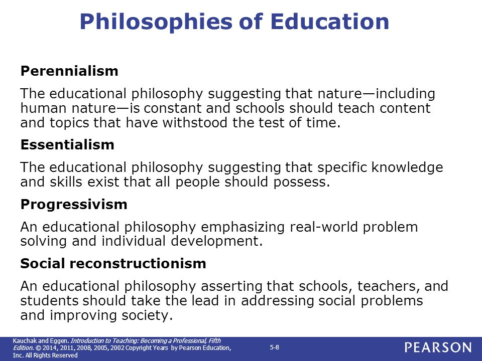 Chapter 5 Educational Philosophy And Your Teaching Ppt