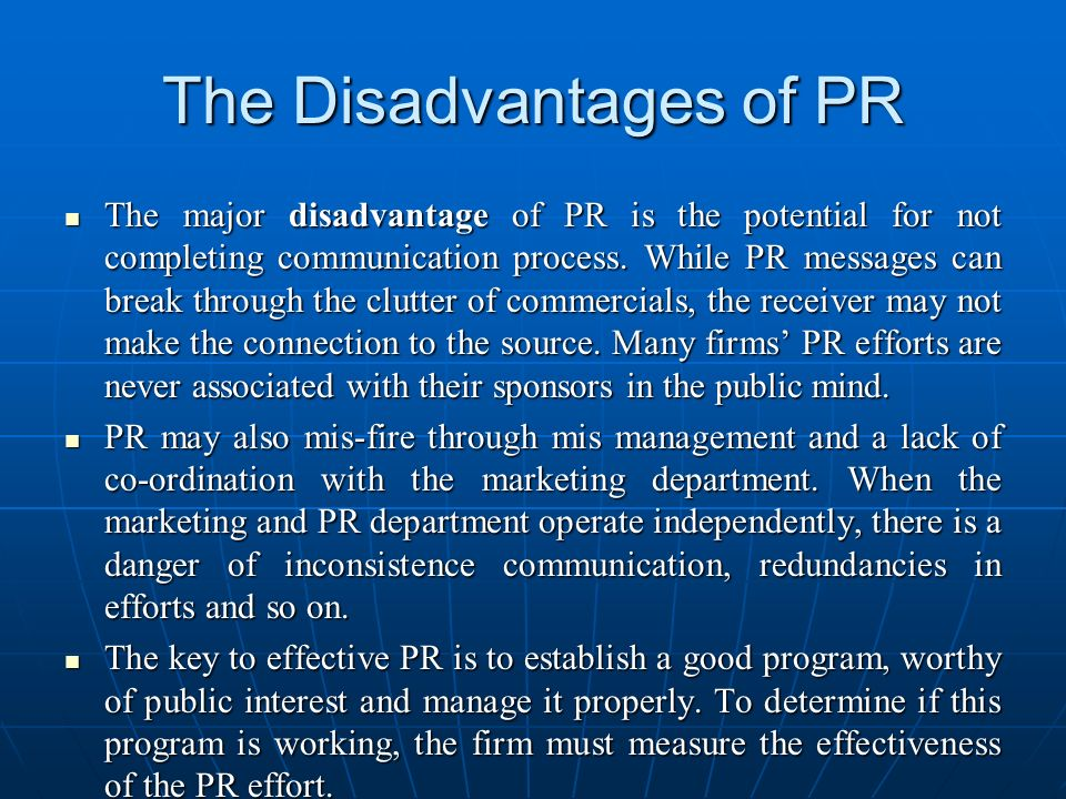 The Disadvantages of PR