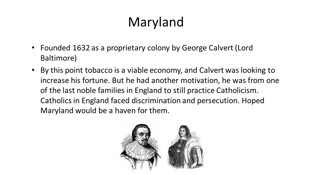 an overview of the founders and george calvert as lord of baltimore A brief history of the colony of maryland  sir george calvert, whose title was lord baltimore  cecil calvert, the lord baltimore, the founder of maryland.