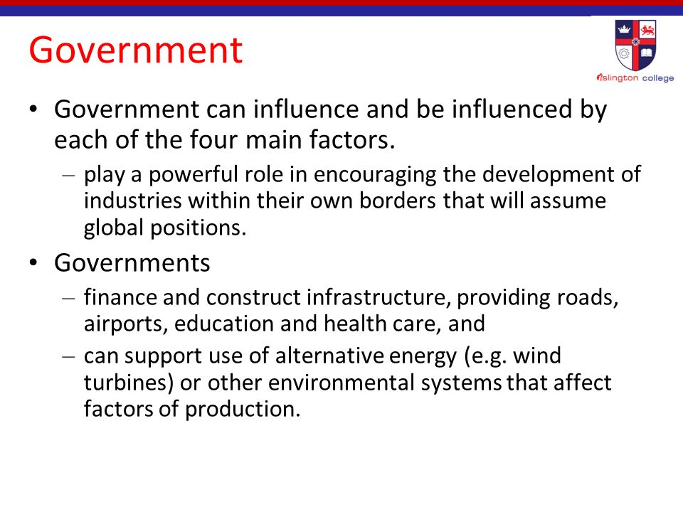 what factors influence the government essay The government should, therefore sought to find out the factors that influence effective communication of the other factors that influenced adoption of.