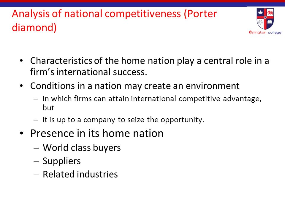 development of a firm s international competitiveness The journal of international social research volume 2 / 8 summer 2009 human capital development and its impact on firm performance: evidence from developmental economics maran enhancing firms' competitiveness (barney, 1995) at a glance.