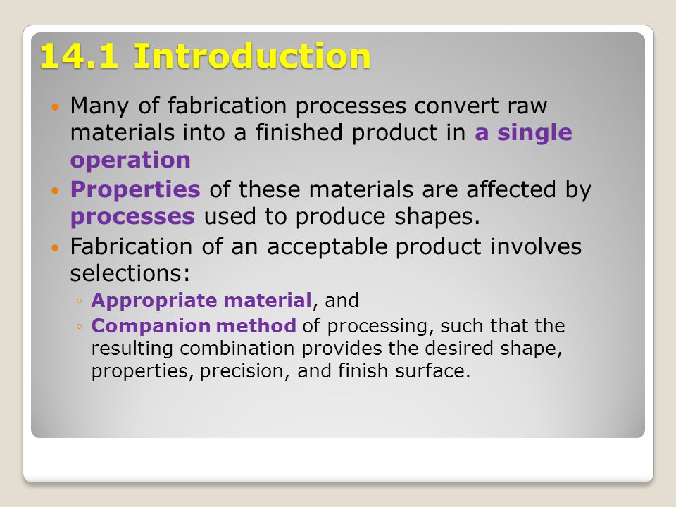 Chapter 14 Fabrication Of Plastics Ceramics And