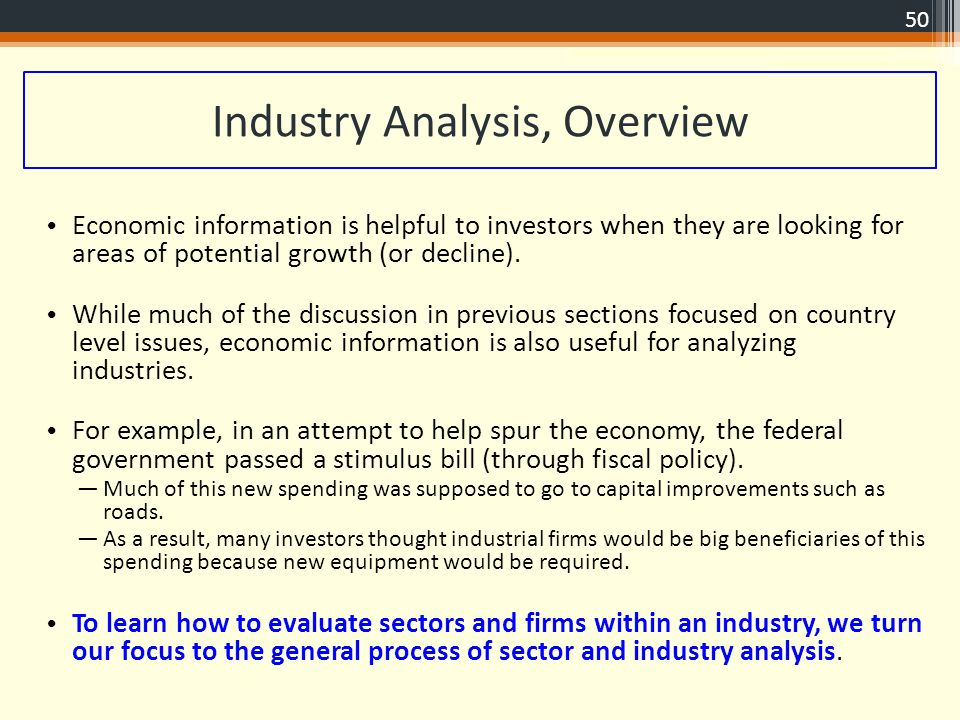 50 Industry Analysis ...  Industry Analysis Example