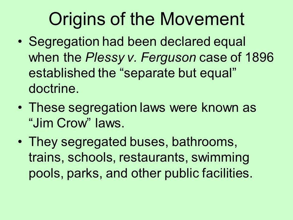 discrimination and segregation in the video separate but equal Schools are no longer legally segregated, but because of residential patterns, housing discrimination, economic disparities and long-held custom, they most emphatically are in reality.