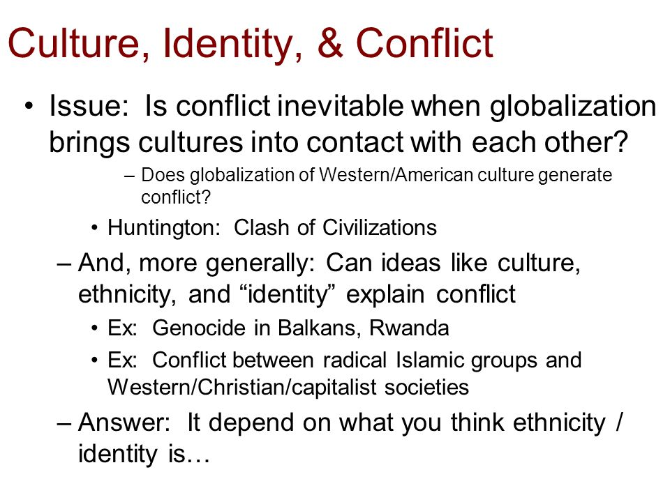 Social identity and the inevitability of conflict groups