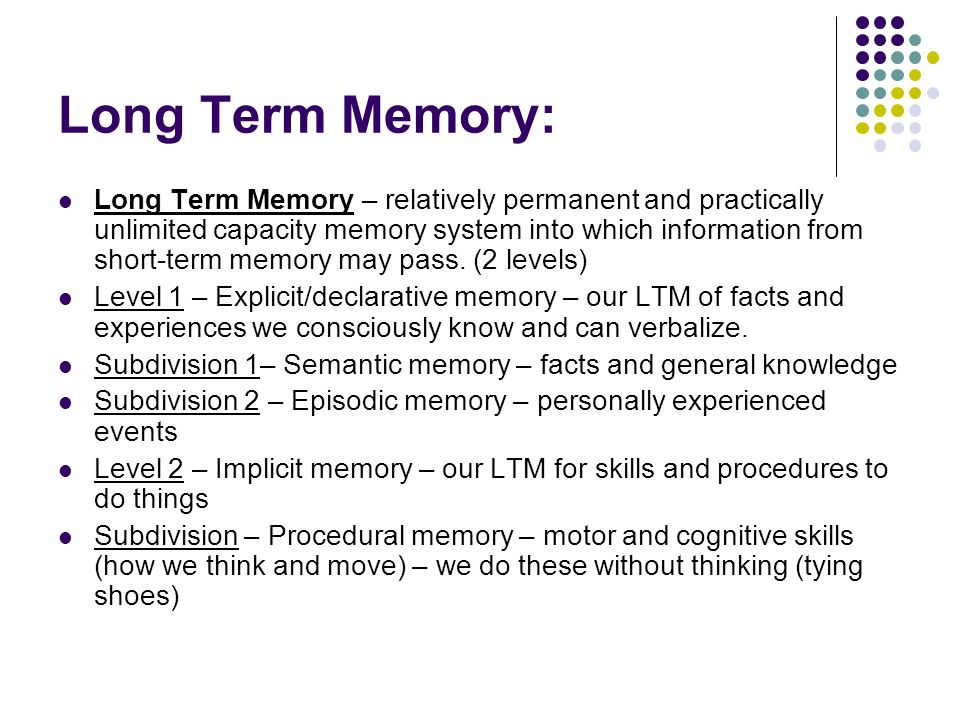 critical thinking and your long term memory Video games play may provide learning, health, social benefits,  memory and perception,  according to a long-term study published in 2013.