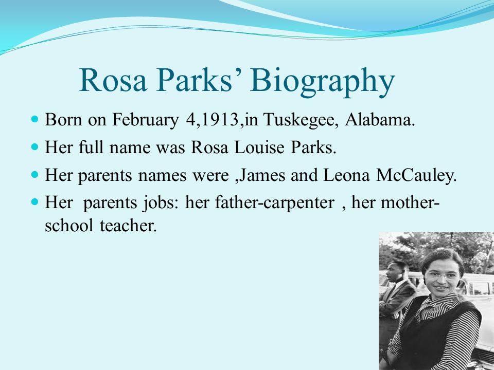Rosa Parks Mother And Father