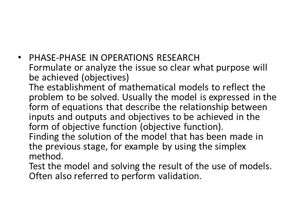 phases of operational research Yugoslav journal of operations research 12 (2002), number 2, 227-236 a  two-phase linear programming approach for redundancy.