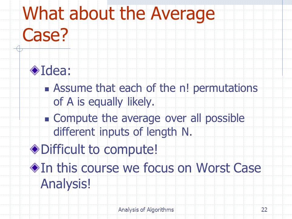 What about the Average Case