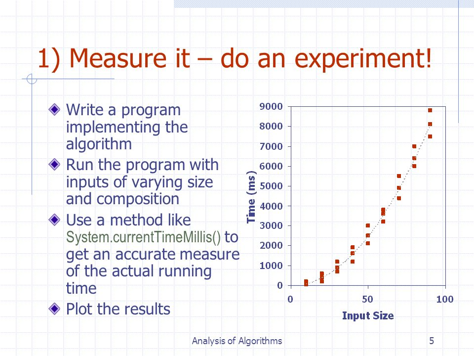 1) Measure it – do an experiment!