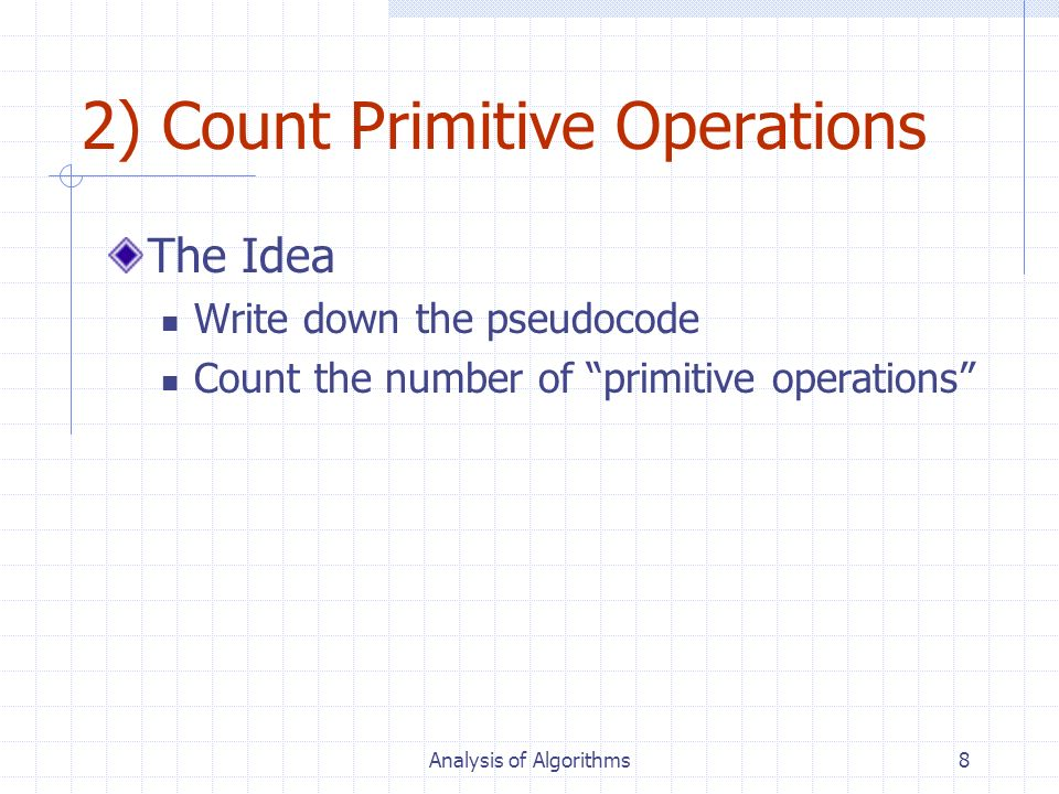 2) Count Primitive Operations
