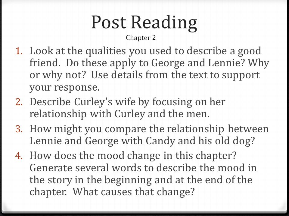 the relationship between curley and his wife essay Curley's wife is the only female character in the novel of mice of  curley's  relationship with his wife seems as if they don't even like each other this is  shown.