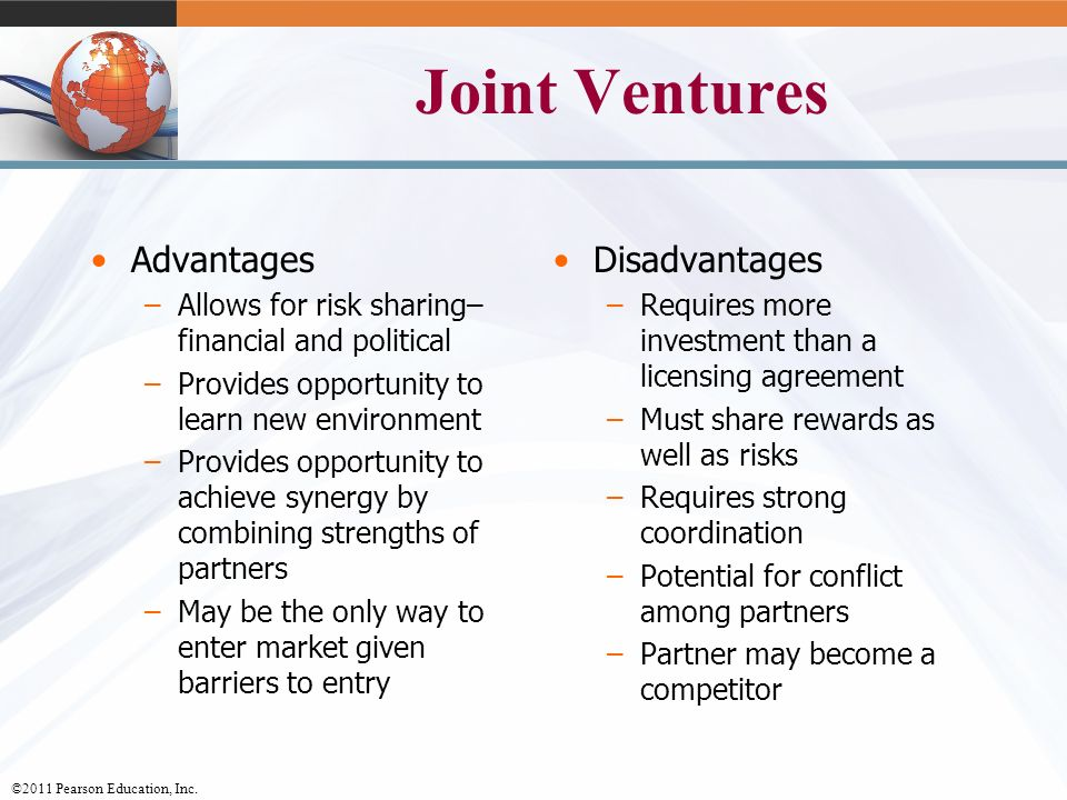 advantages and disadvantages of joint venture This guide provides an overview of the most common legal structures used in joint venture  guide to joint ventures  the advantages and disadvantages.