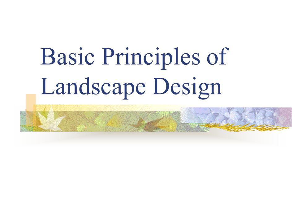 Basic principles of landscape design ppt download for Garden design principles