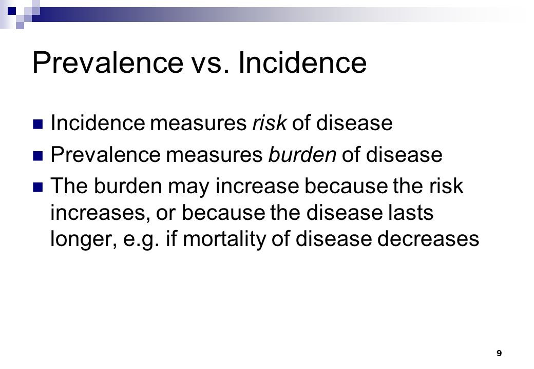 Cohort study incidence prevalence