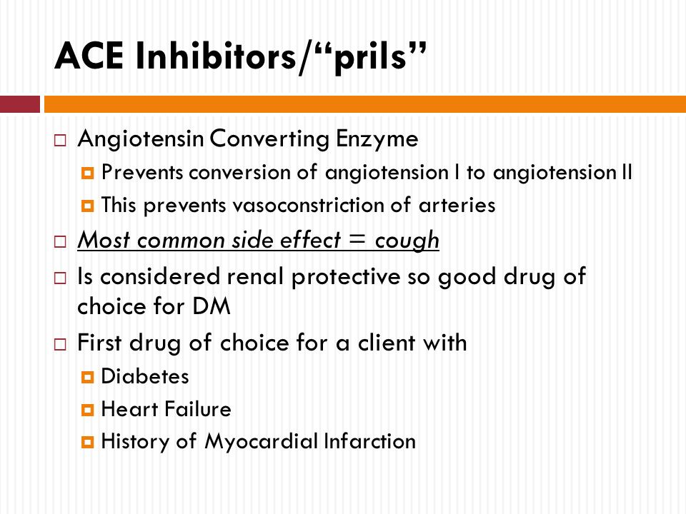 which ace inhibitors post mi guidelines