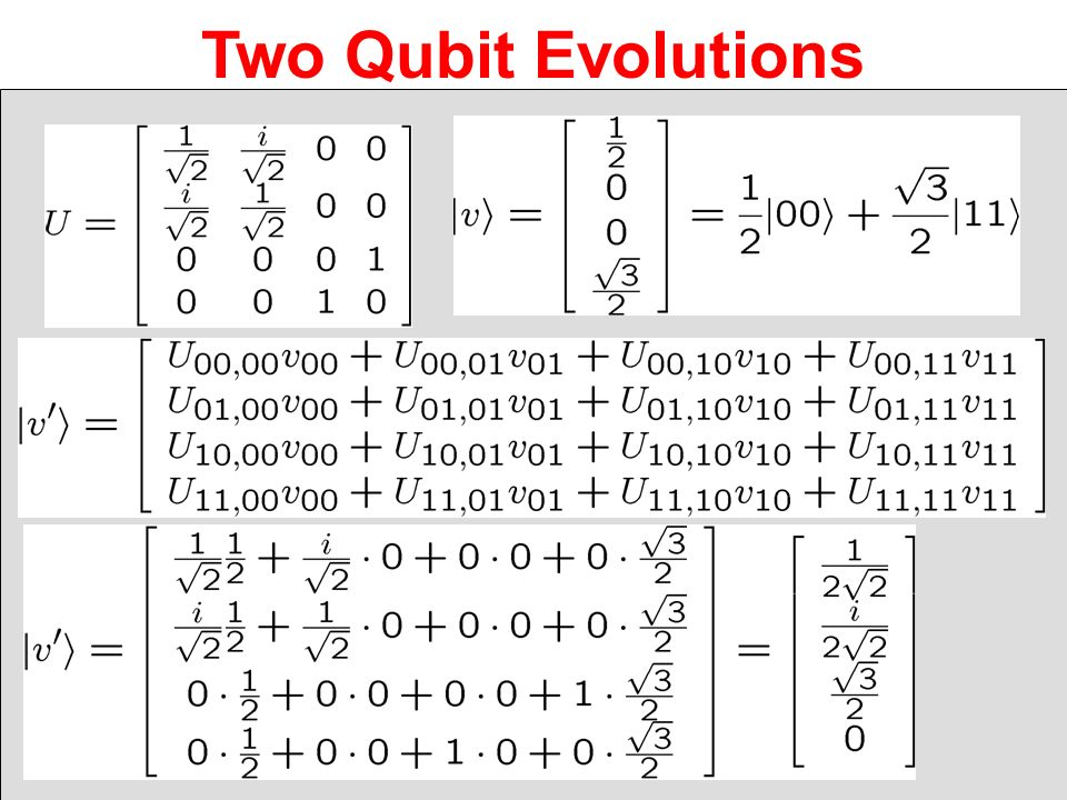 Two Qubit Evolutions