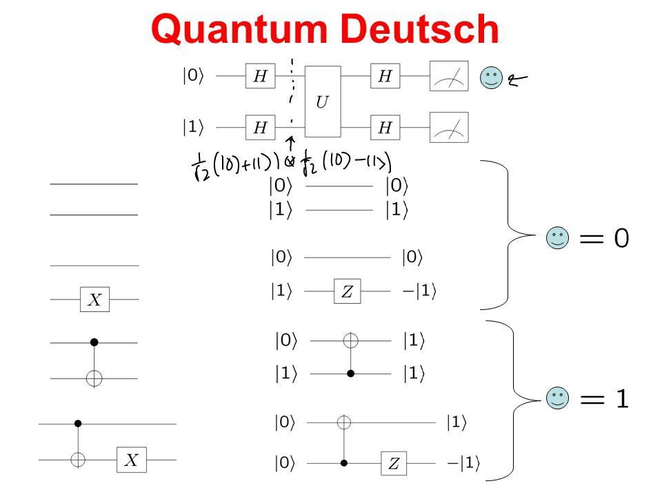 Quantum Deutsch