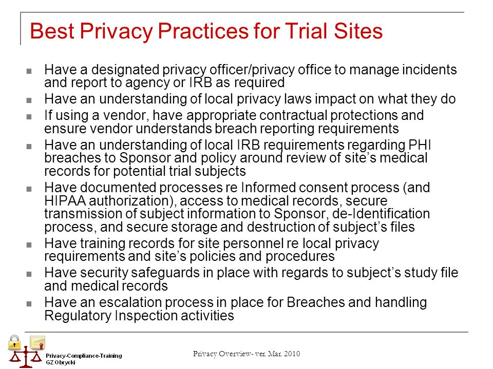 best privacy policy requirements - photo #1