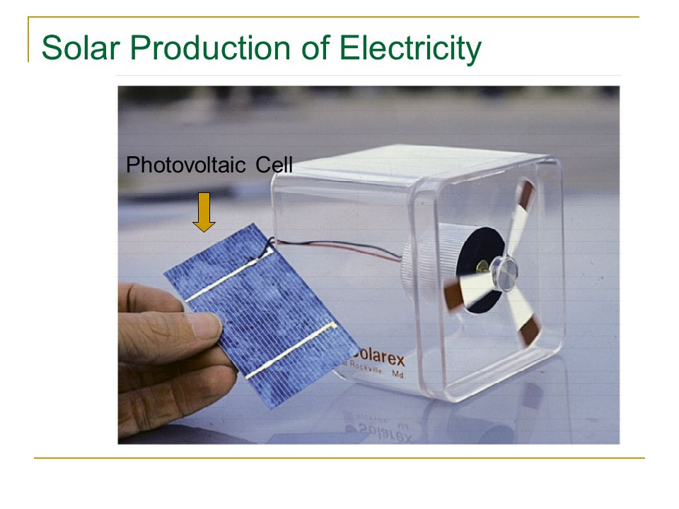 Solar Production of Electricity