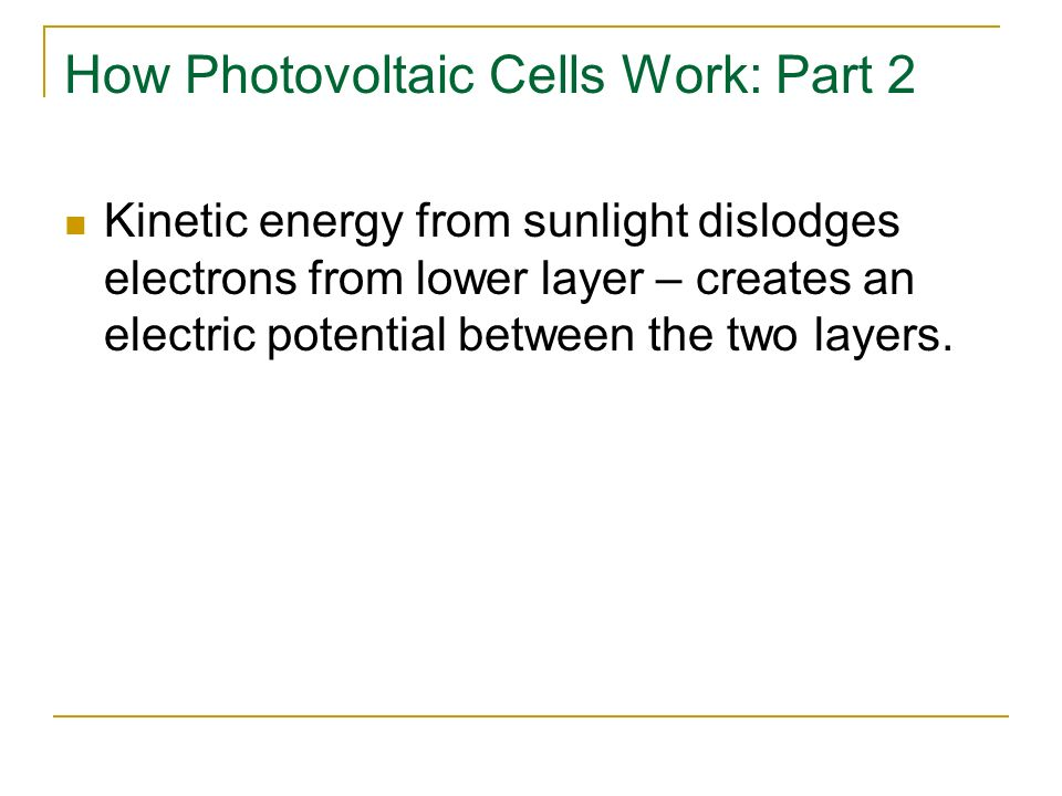How Photovoltaic Cells Work: Part 2