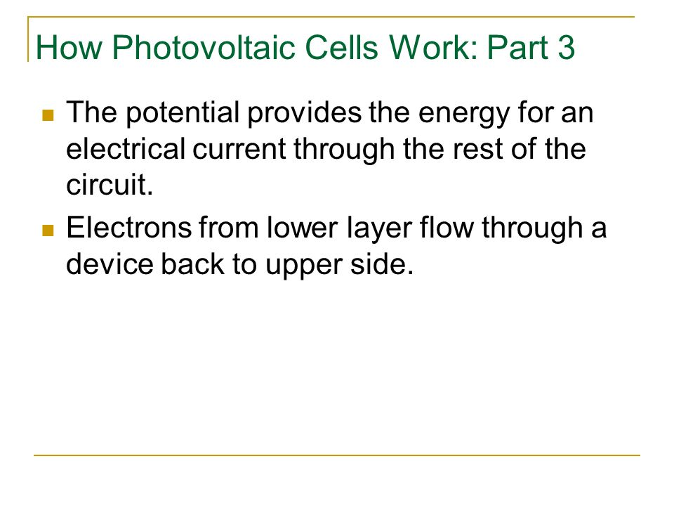 How Photovoltaic Cells Work: Part 3