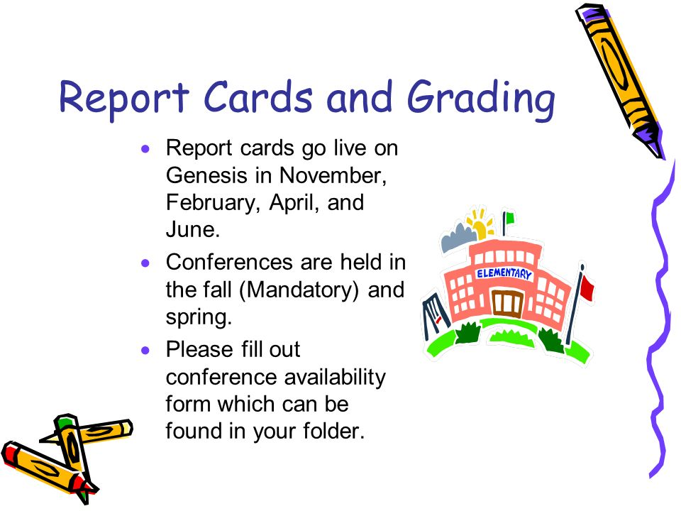 Report Cards and Grading