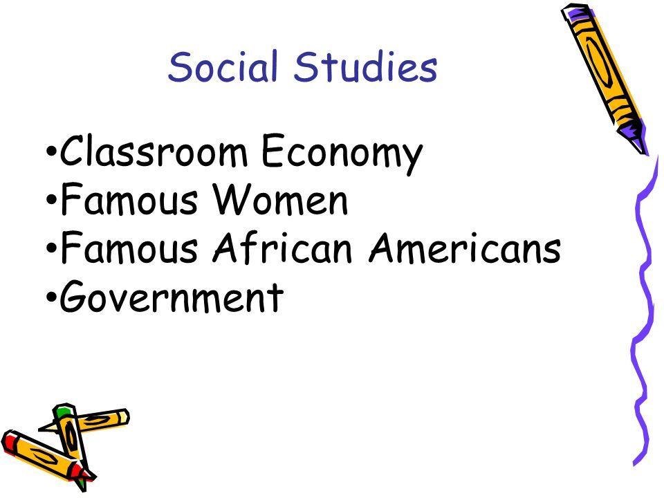 Social Studies Classroom Economy Famous Women Famous African Americans Government