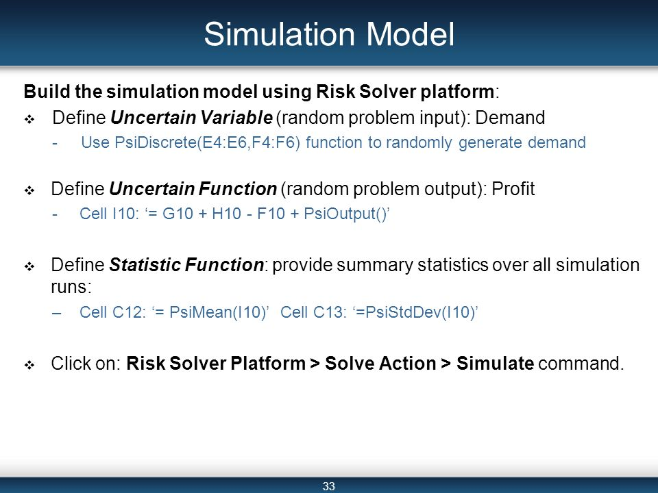 statistics solver exponential regression solver real statistics  spreadsheet based decision support systems ppt video online simulation model build the simulation model using risk